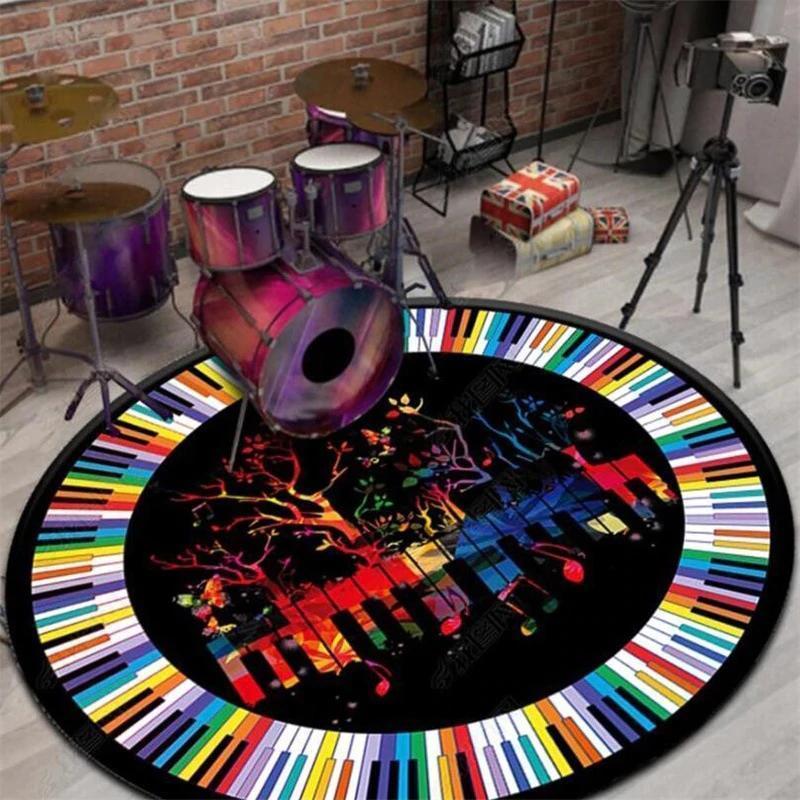 Runder Teppich <br> Klavier
