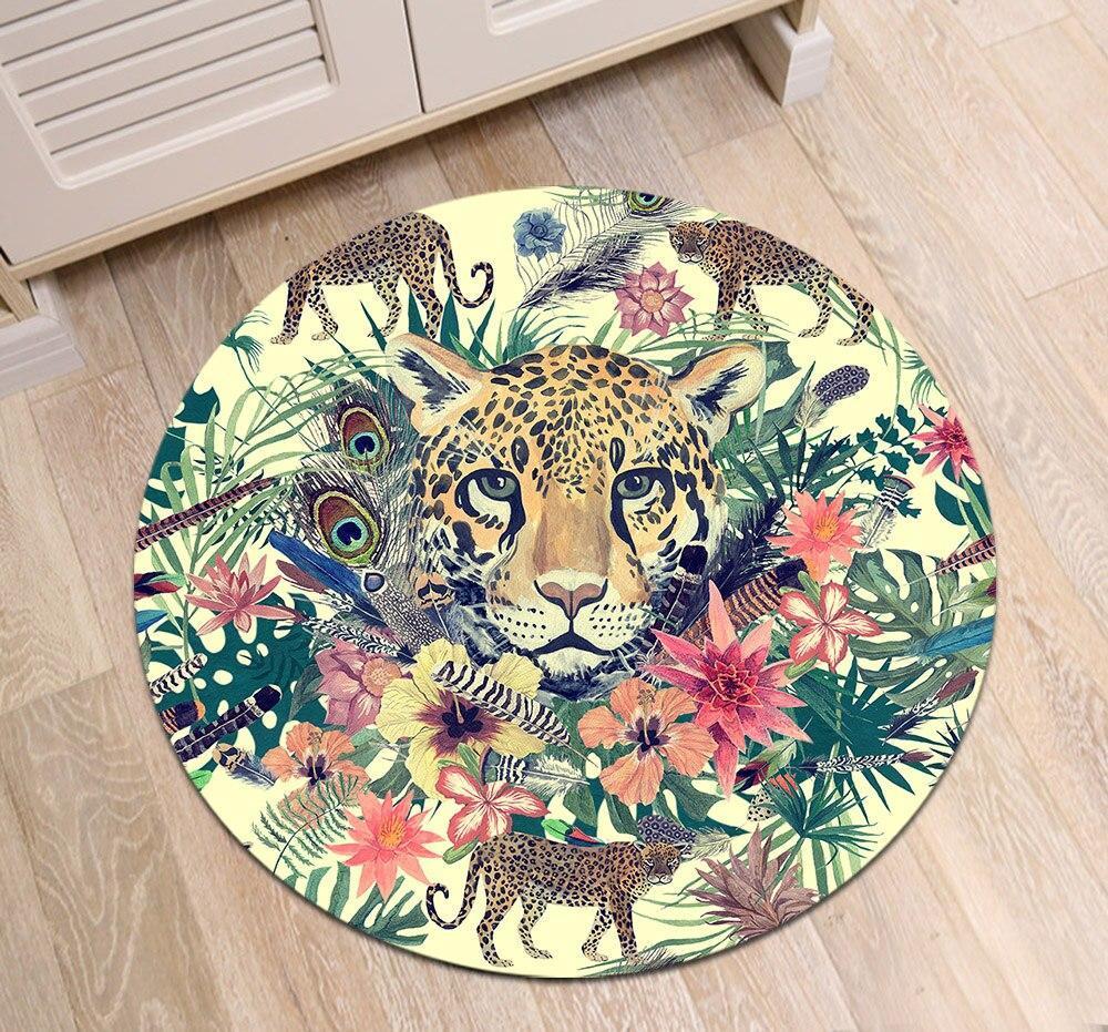 Runder Teppich <br> Kleiner Löwe