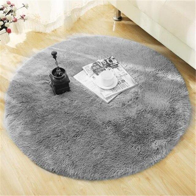 Runder Teppich <br> Komfort Grau