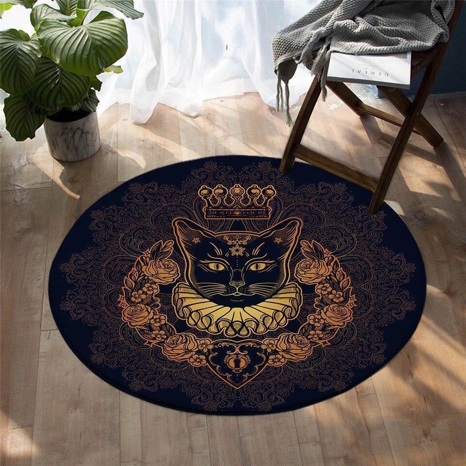 Runder Teppich <br> König