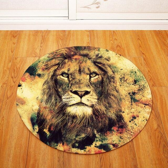 Runder Teppich <br> König der Savanne