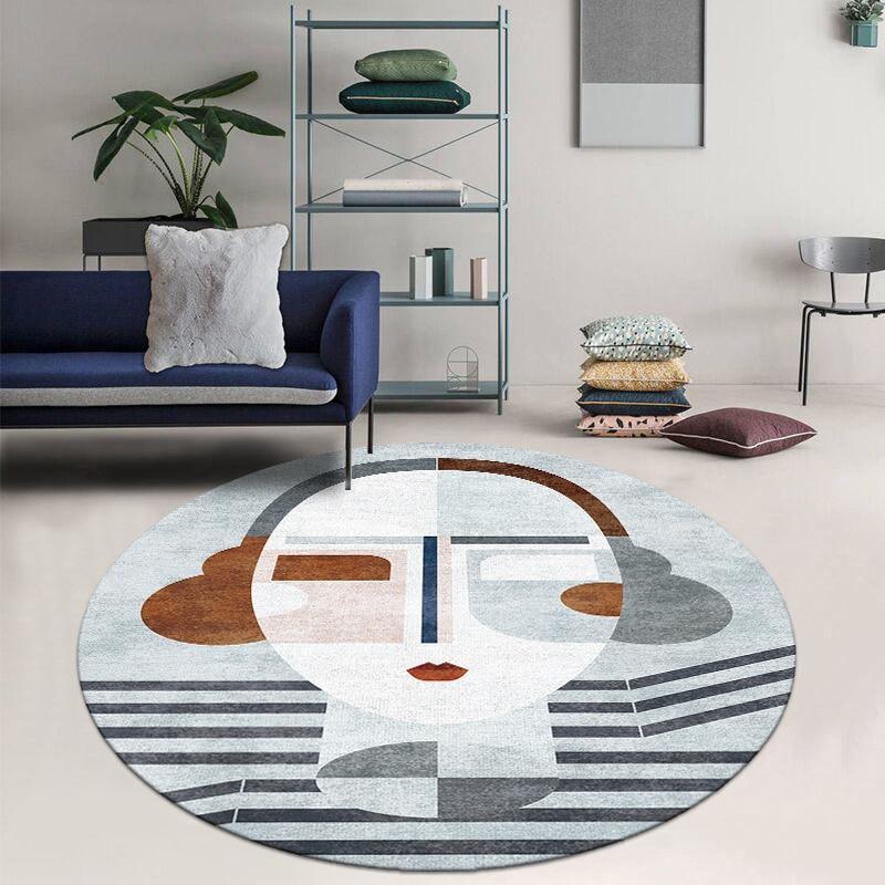 Runder Teppich  <br> Kunst