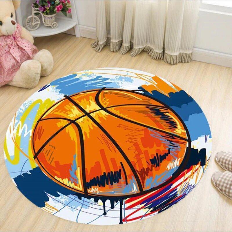 Runder Teppich <br> Künstlerischer Basketball