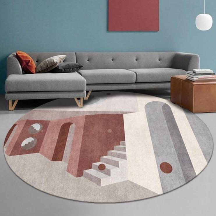 Runder Teppich <br> Kunstwerk