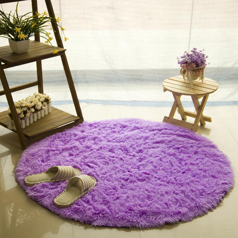 Runder Teppich <br> Lila Gemütlich