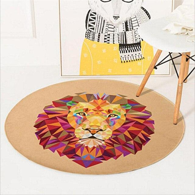 Runder Teppich <br> Löwe