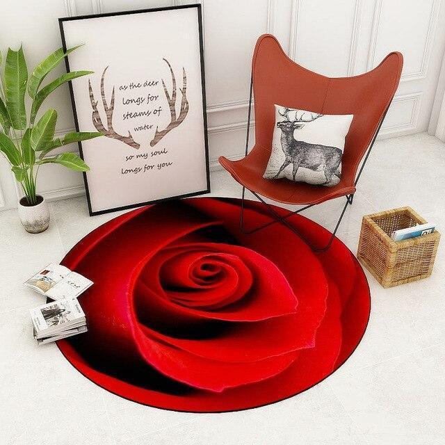Runder Teppich <br> Luxuriöses Rosa