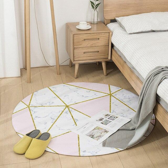 Runder Teppich <br> Luxus-Imitationsfliesen