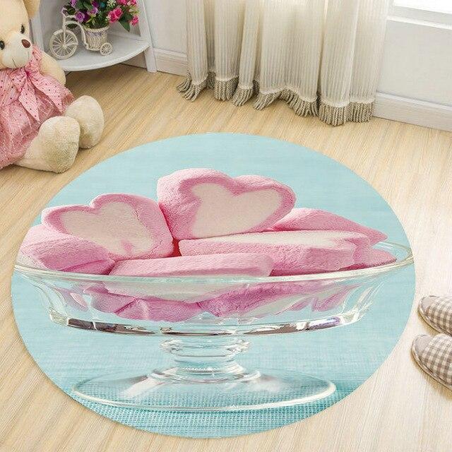 Runder Teppich <br> Mädchenzimmer