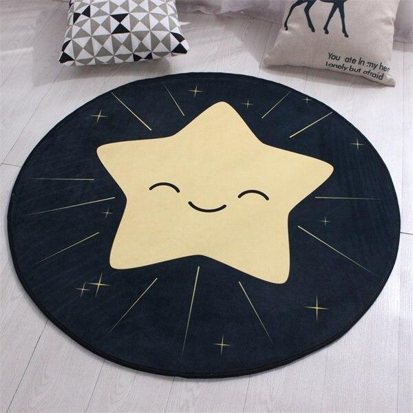 Runder Teppich <br> Magischer Stern