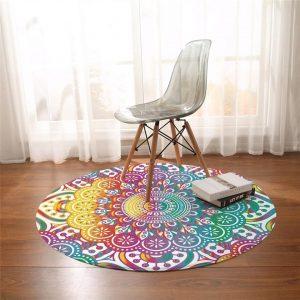 Runder Teppich  <br> Mandala-Kunst