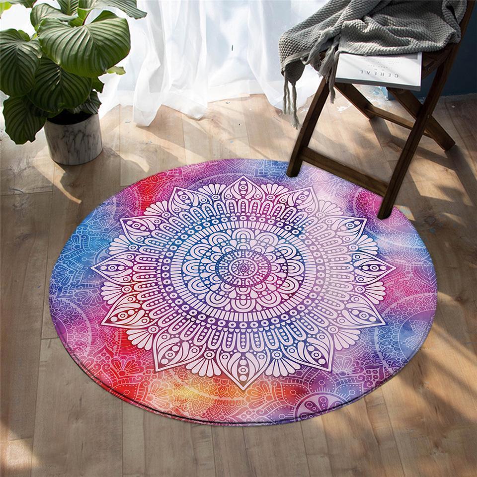 Runder Teppich <br> Mandala Muster