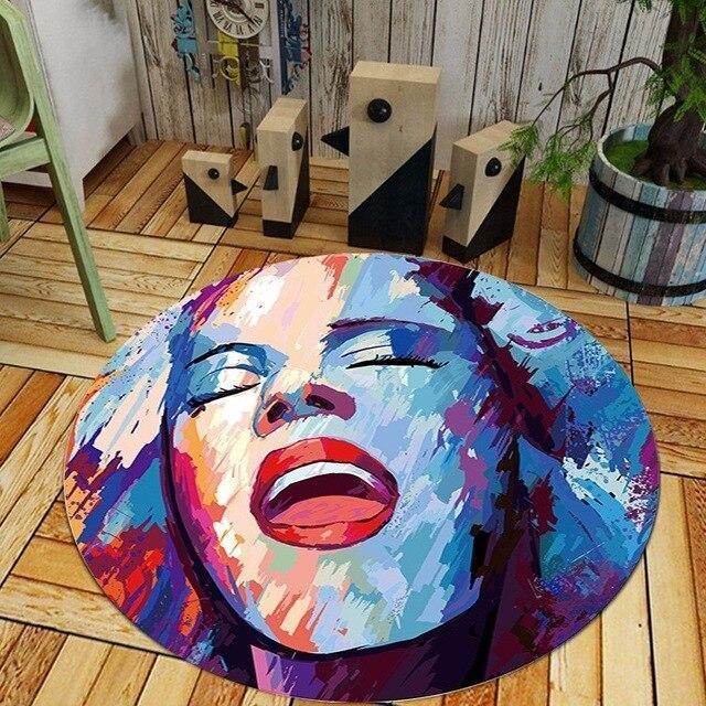 Runder Teppich <br> Marilyn Monroe