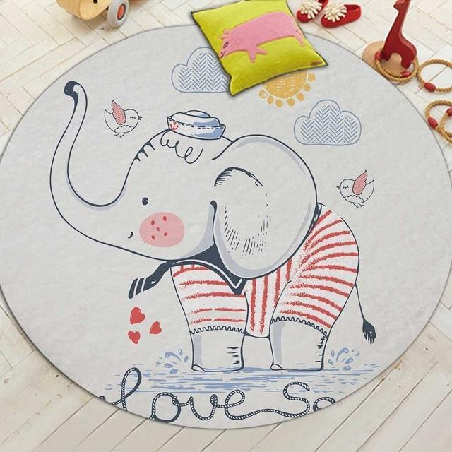 Runder Teppich <br> Marine Elephant