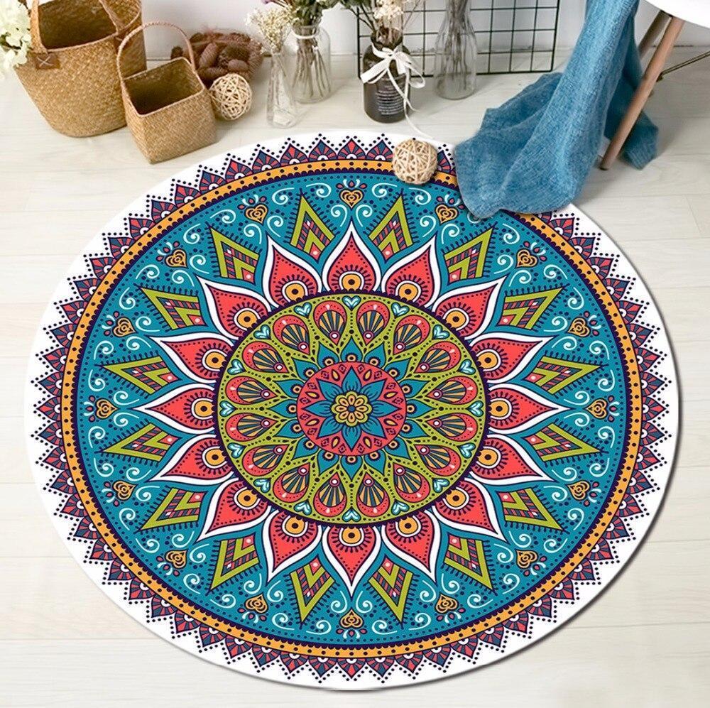 Runder Teppich <br> Marokkanischer Stil