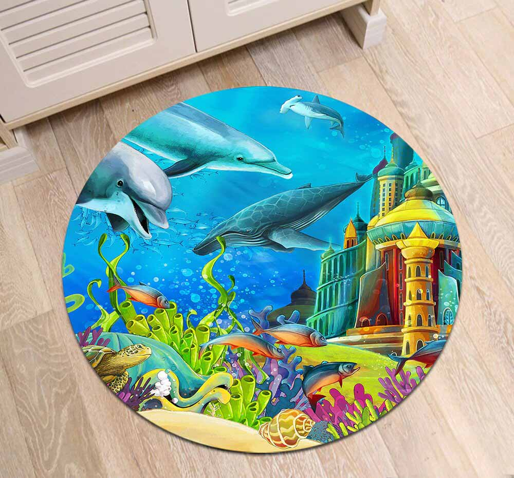 Runder Teppich <br> Meeresboden