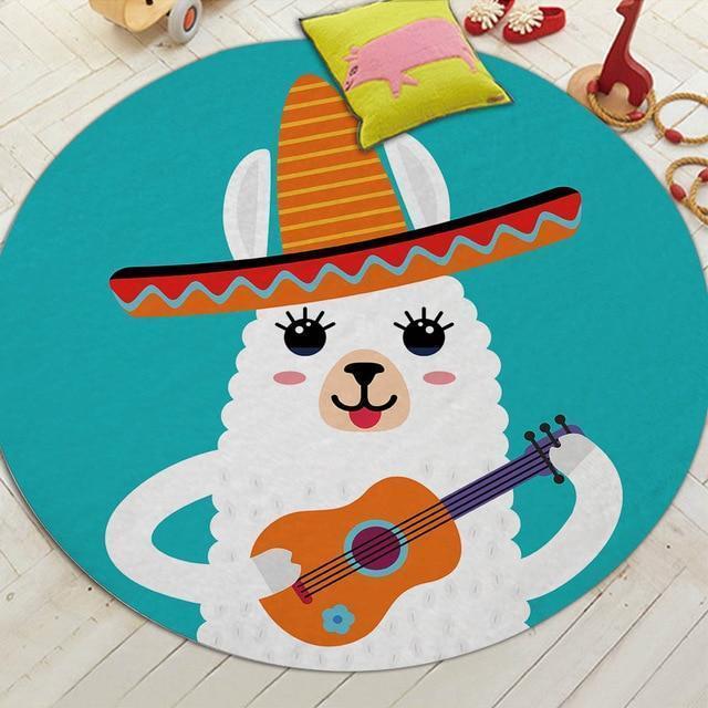 Runder Teppich <br> Mexikanisches Schaf