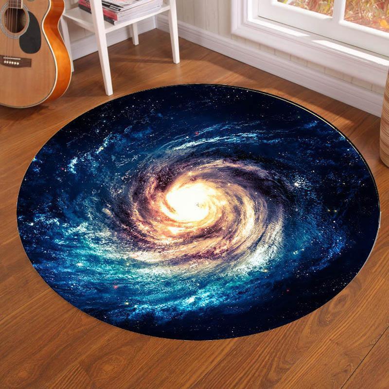 Runder Teppich  <br> Milchstraße