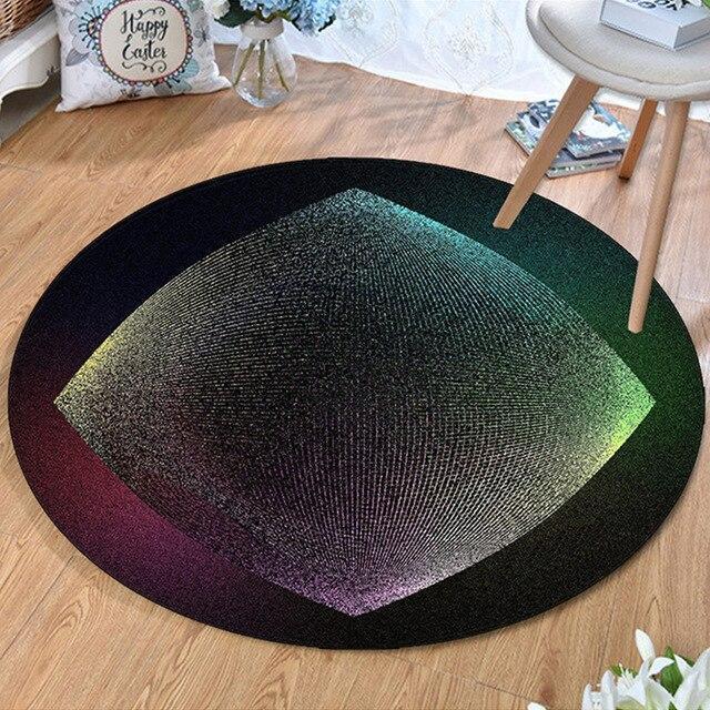 Runder Teppich <br> Modern Wohnzimmer