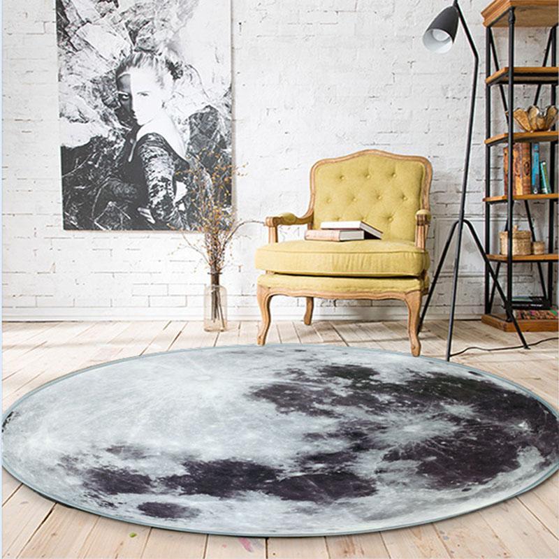 Runder Teppich <br> Mond