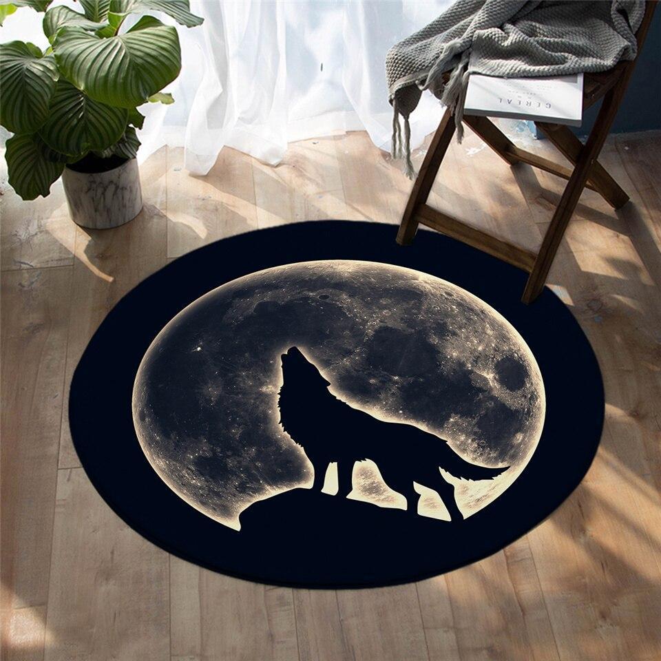 Runder Teppich <br> Mondwolf