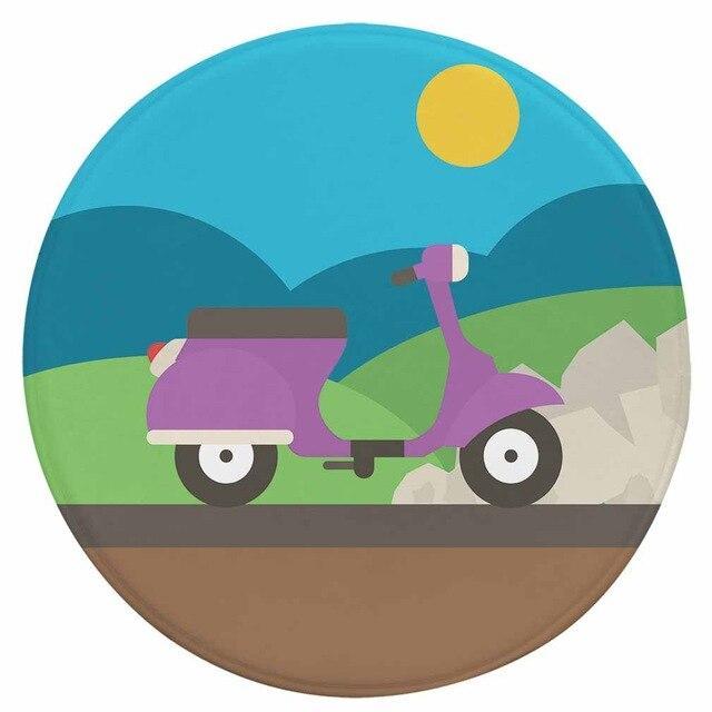 Runder Teppich <br> Motorroller
