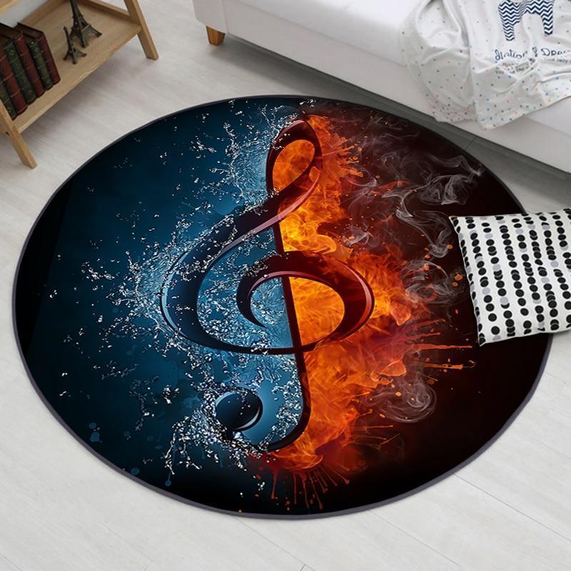 Runder Teppich <br> Musiknote