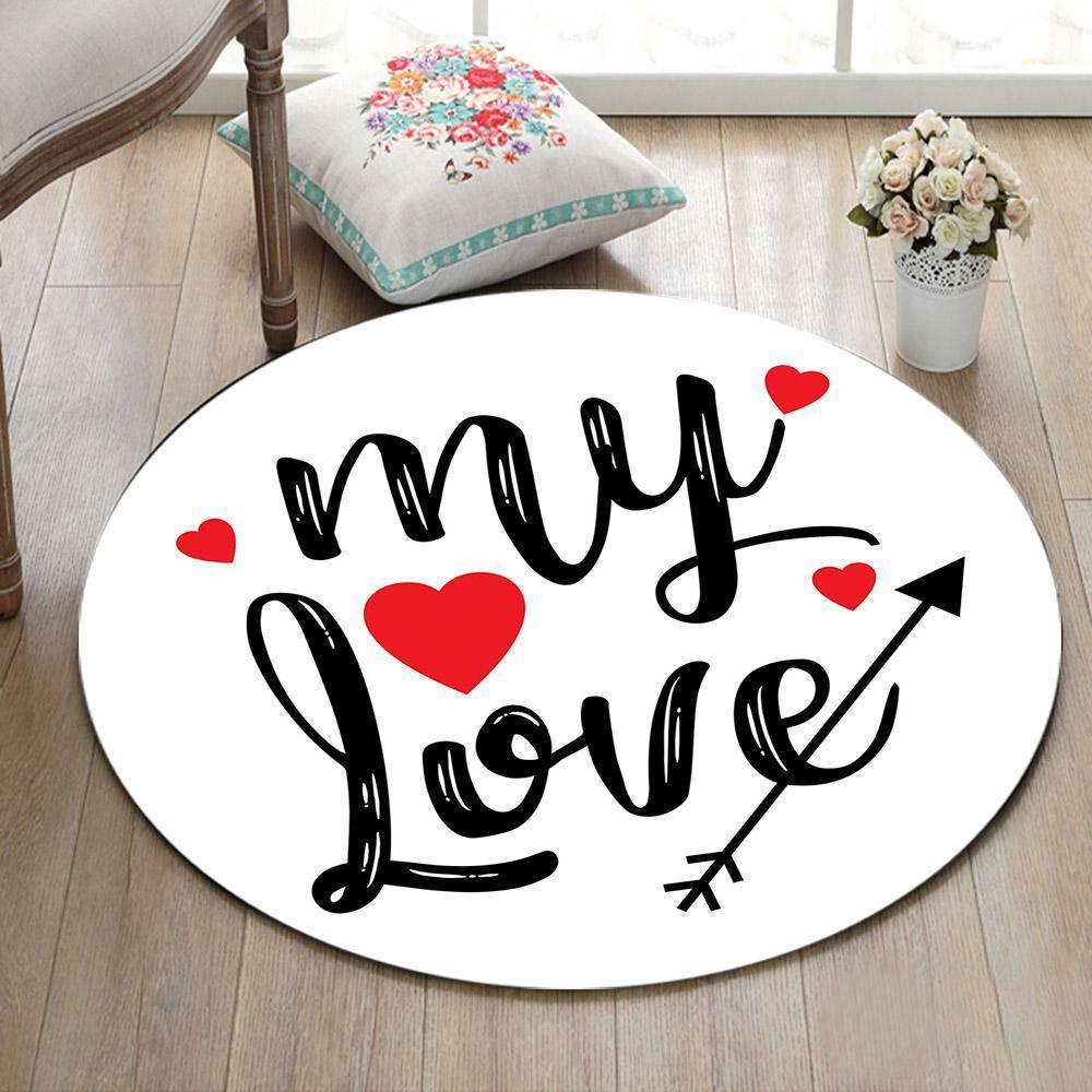 Runder Teppich <br> My Love