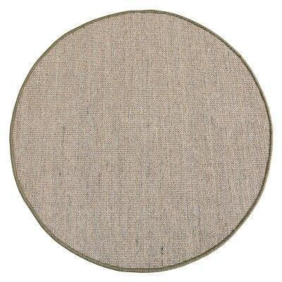 Runder Teppich <br> Natürliche Jute