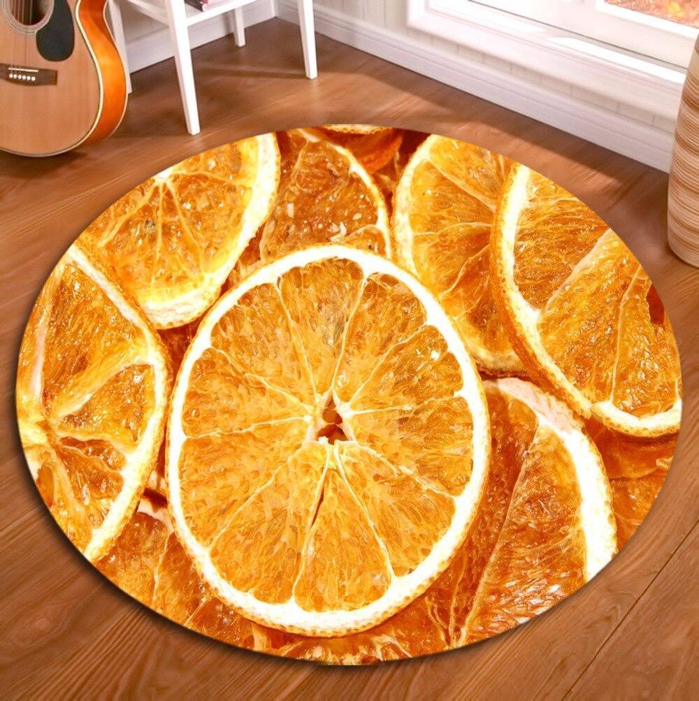 Runder Teppich <br> Orangenfrucht