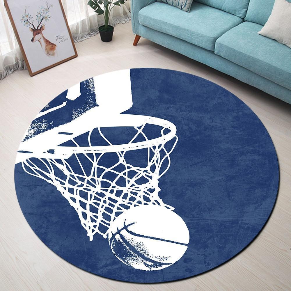 Runder Teppich <br> Orient Blau