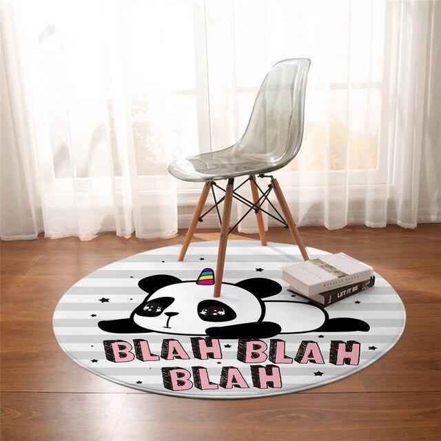 Runder Teppich  <br> Panda Red' du nur!