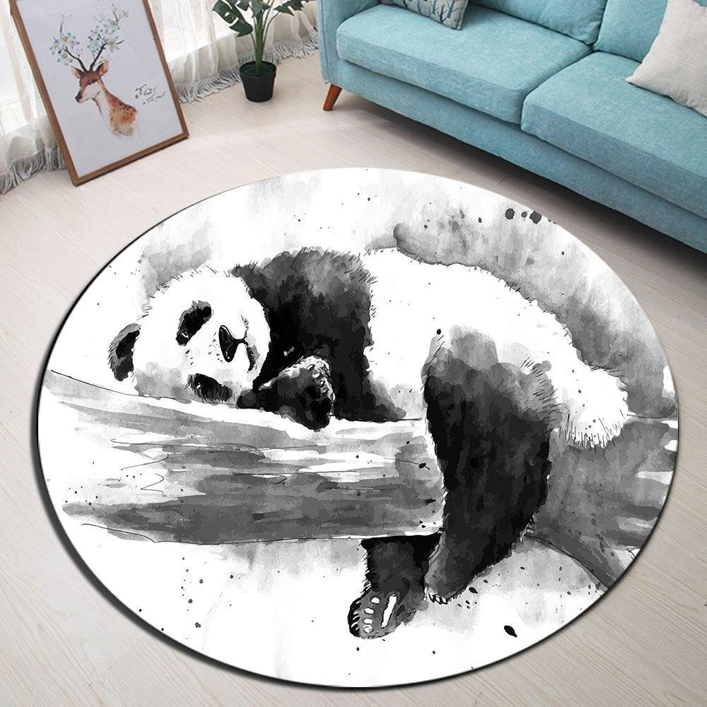 Runder Teppich <br> Panda