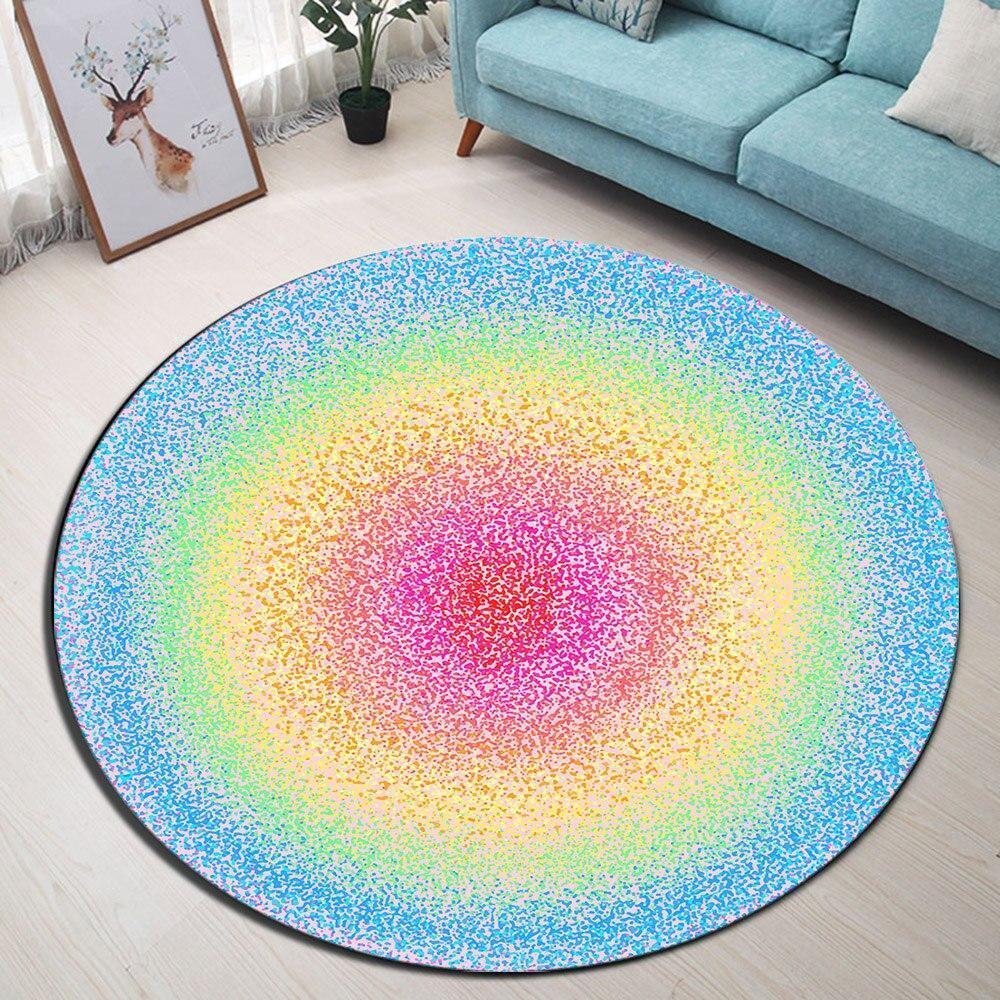 Runder Teppich <br> Pastellfarbe