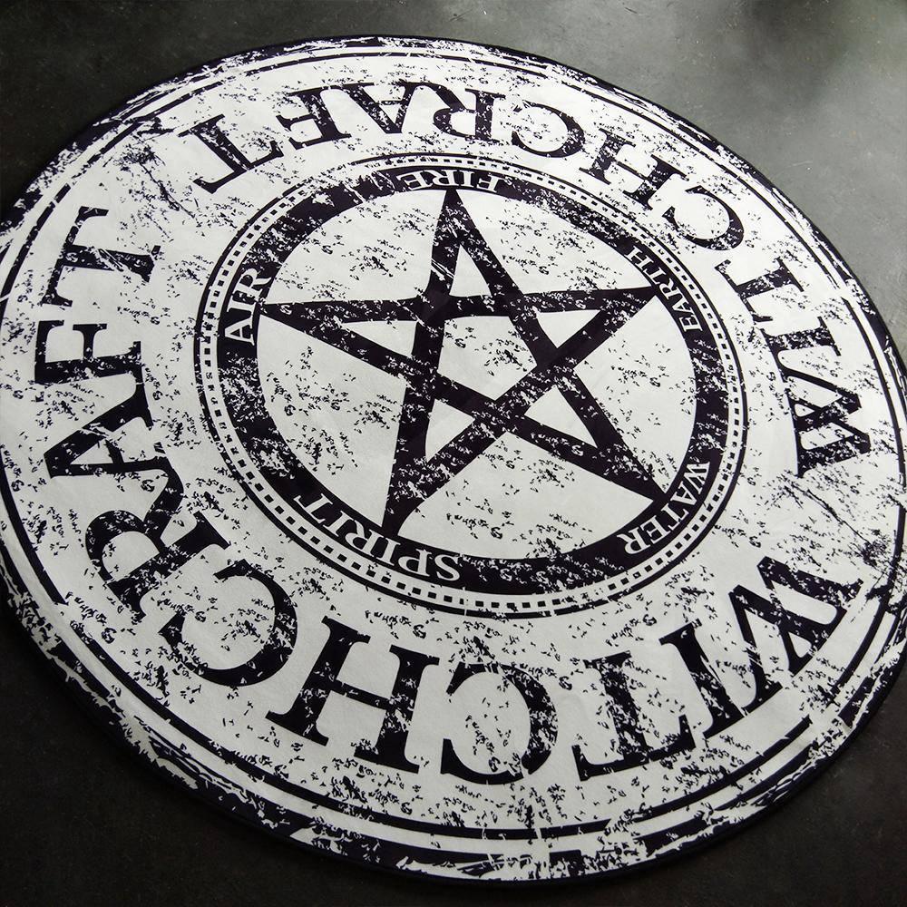 Runder Teppich <br> Pentagramm