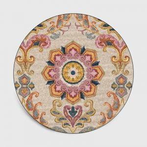 Runder Teppich <br> Persisch