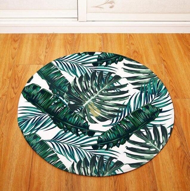 Runder Teppich <br> Pflanze