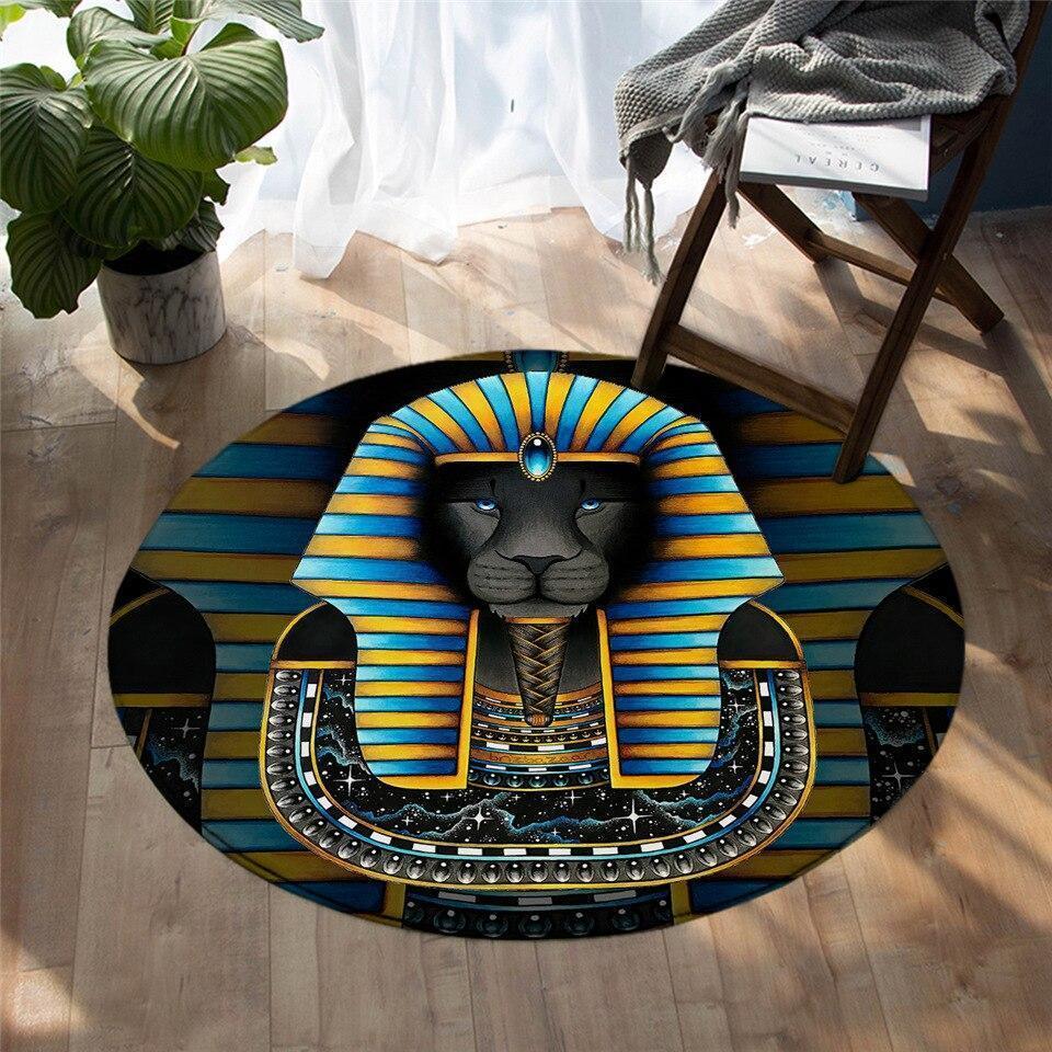 Runder Teppich <br> Pharao