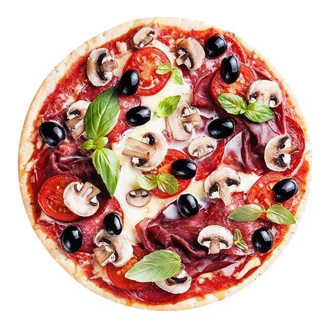 Runder Teppich <br> Pizza