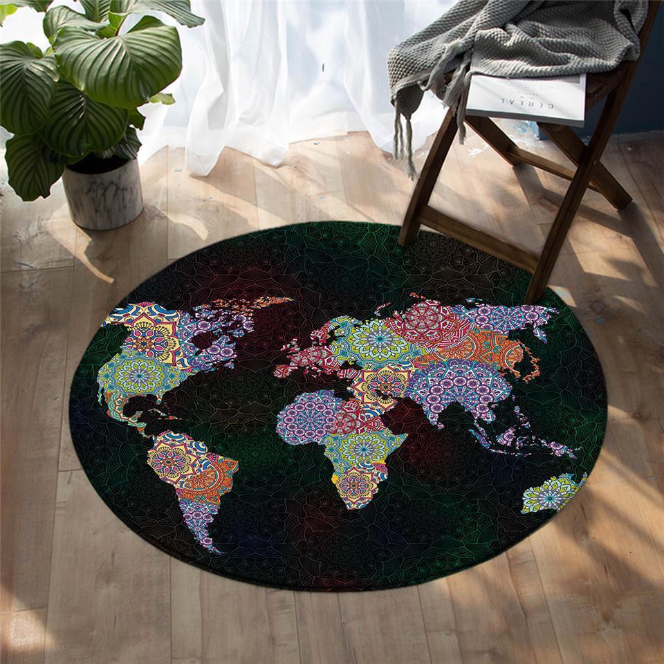 Runder Teppich <br> Planet Mandala