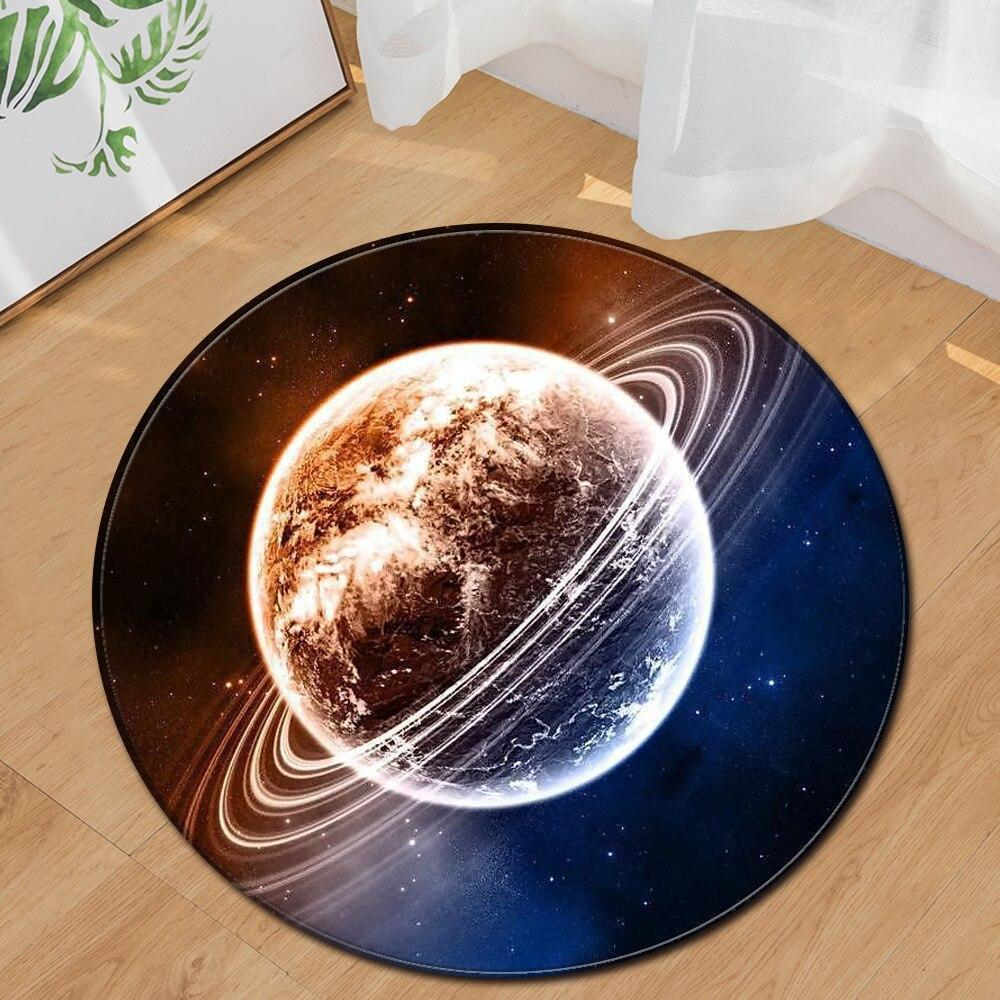 Runder Teppich <br> Planet