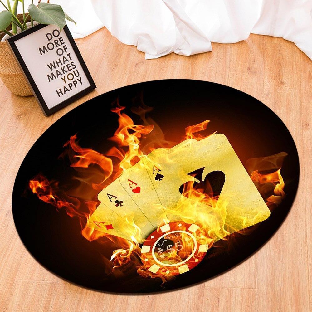 Runder Teppich <br> Poker