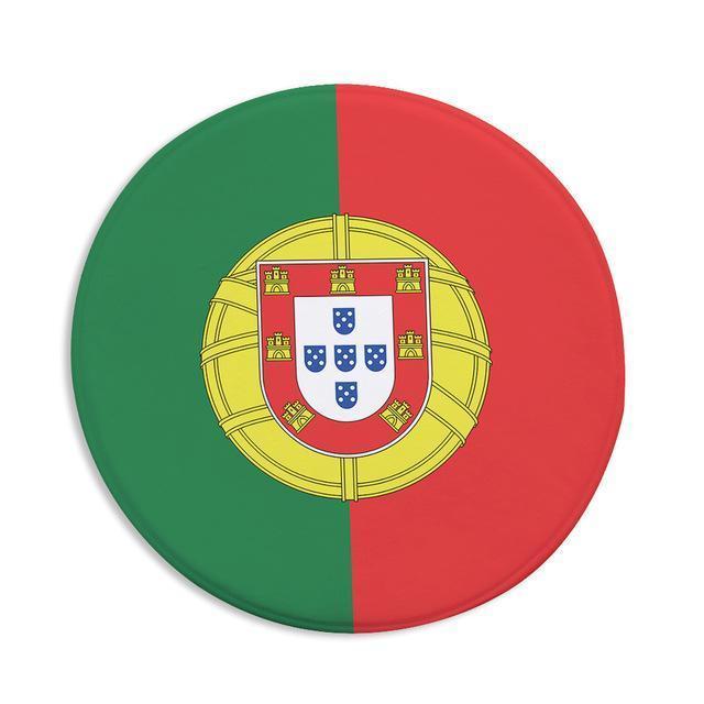 Runder Teppich <br> Portugiesische Flagge