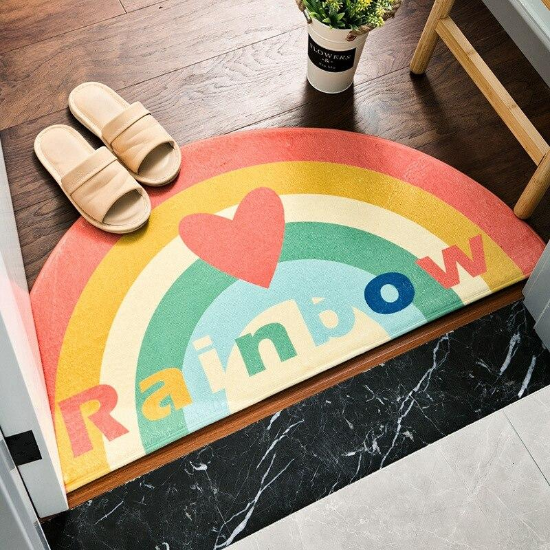 Runder Teppich  <br> Regenbogen