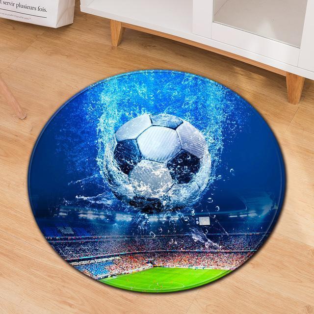 Runder Teppich <br> Riesiger Fußball