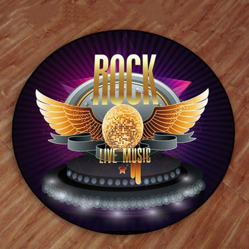 Runder Teppich <br> Rock