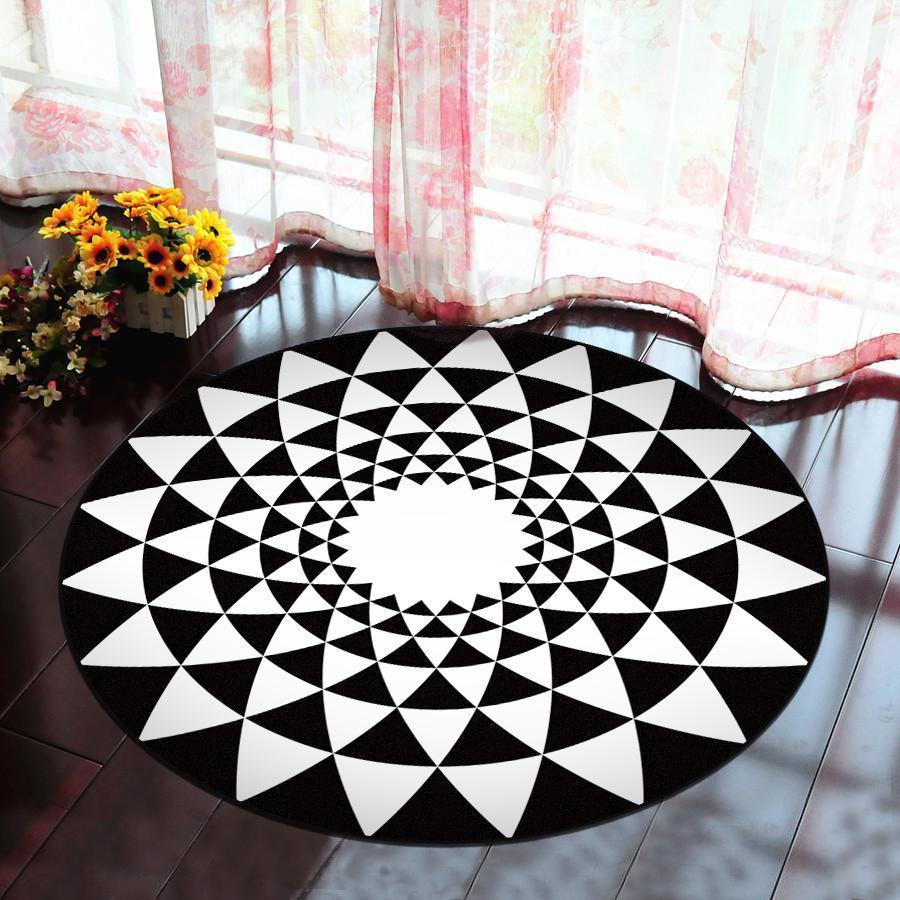 Runder Teppich <br> Rosettenform