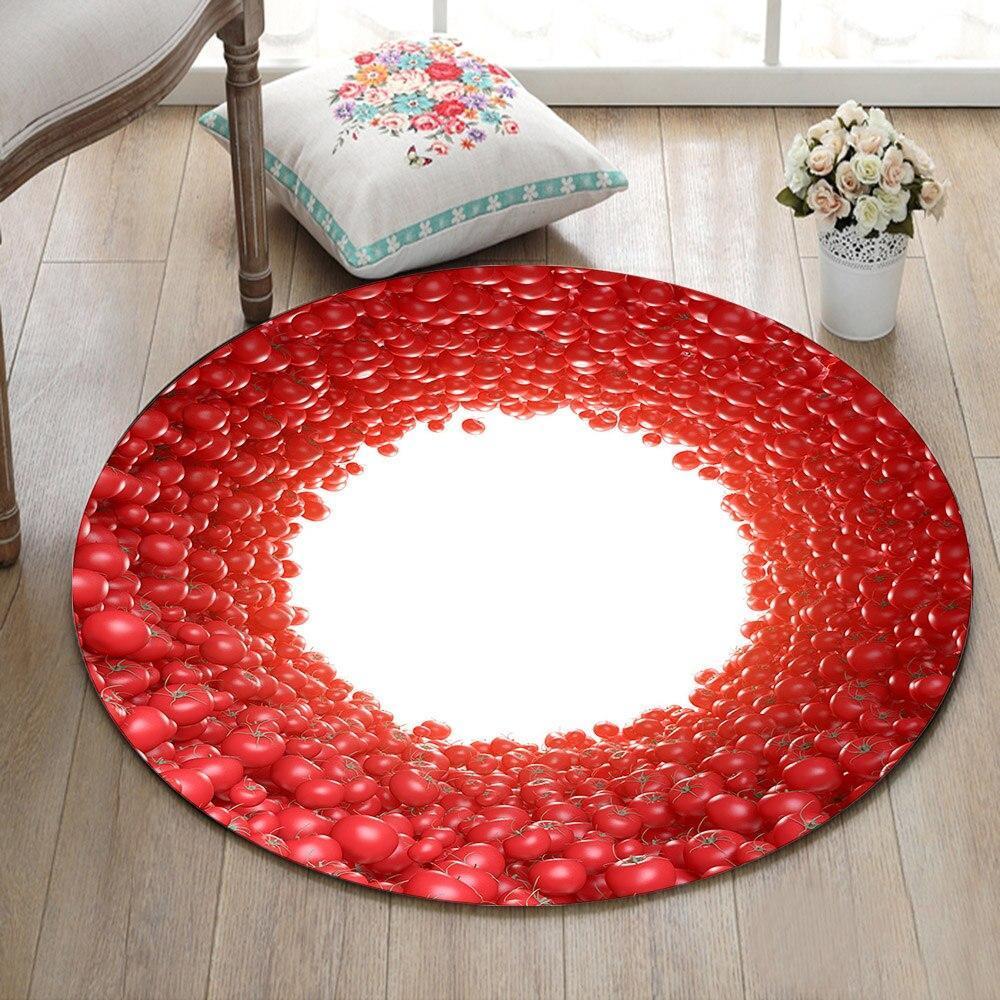 Runder Teppich <br> Roter Umriss