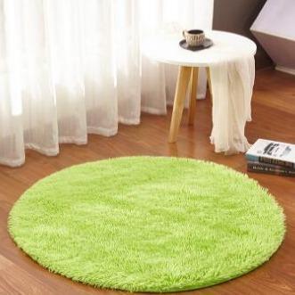 Runder Teppich <br> Samt