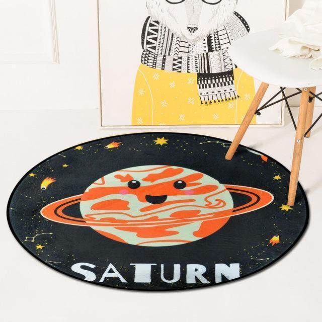 Runder Teppich <br> Saturn